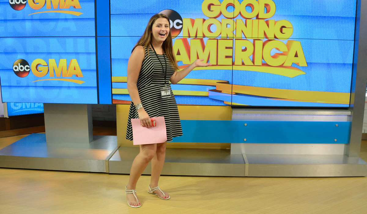 Student on the set of Good Morning America