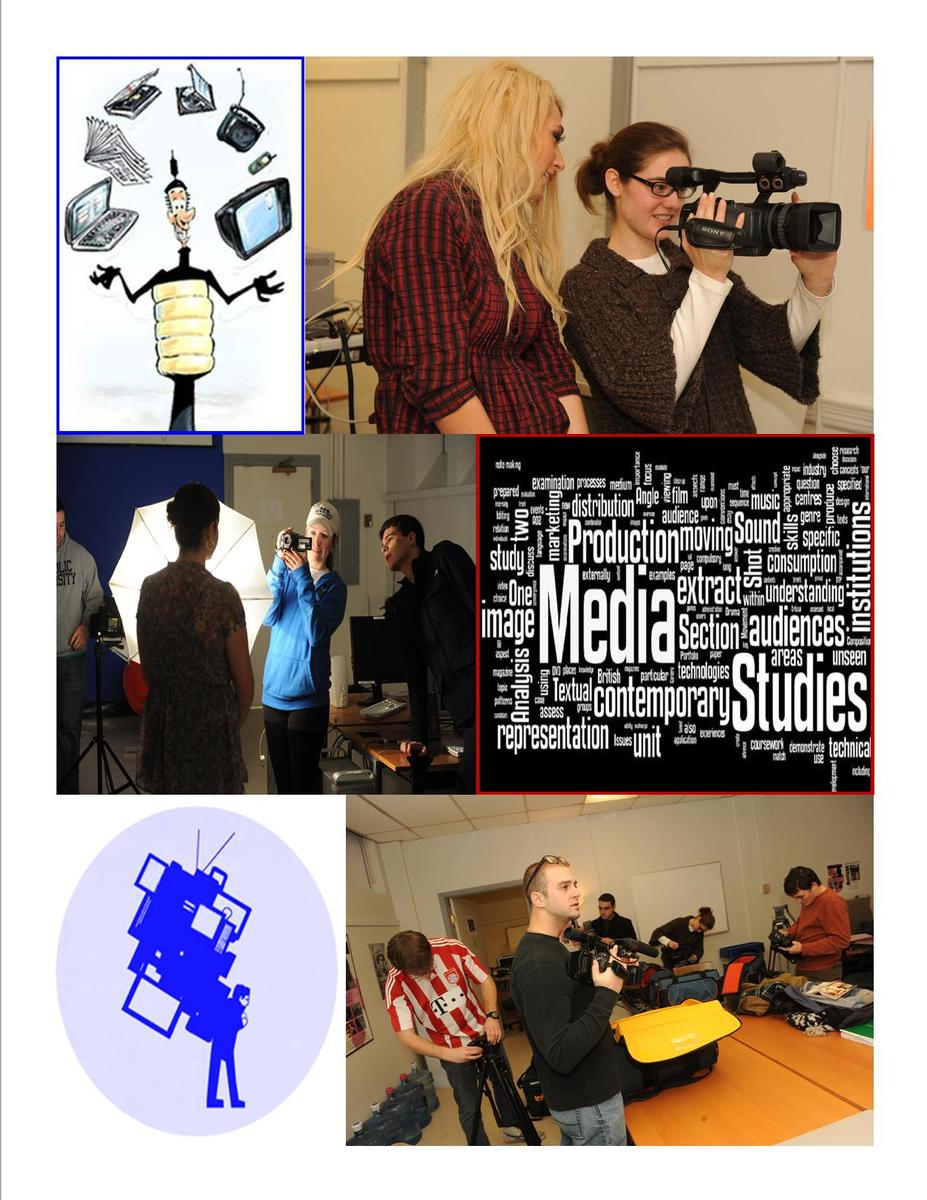Collage of media studies pictures